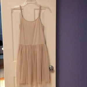 Casual tan tulle dress